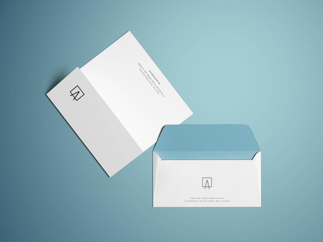 Free Envelope & Letterhead Mockup