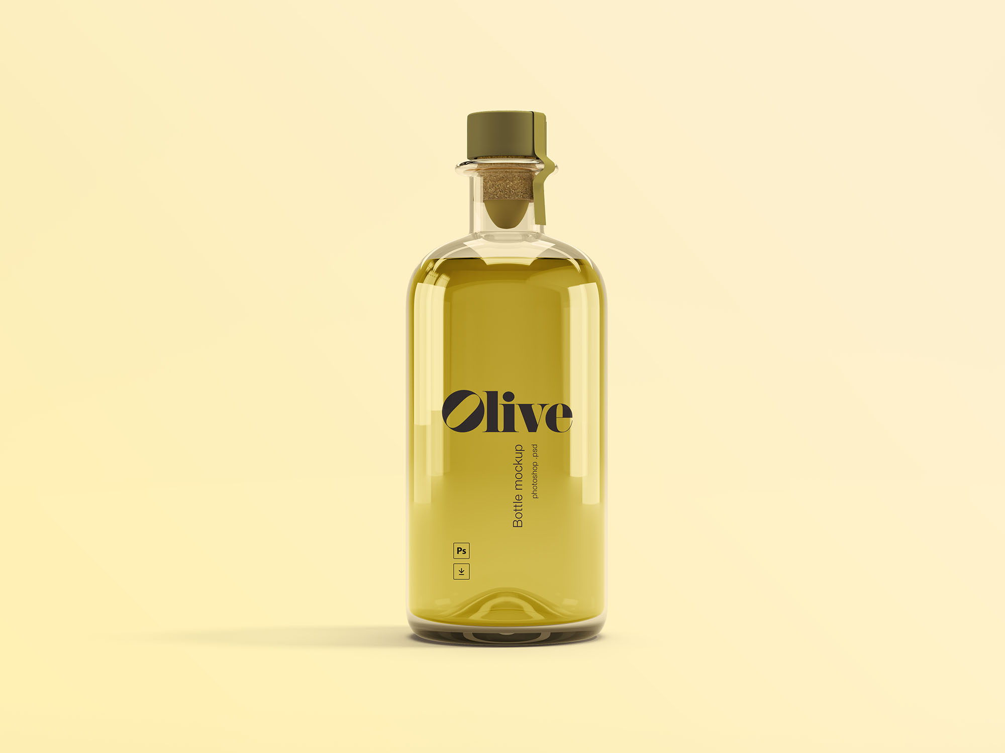 Free Olive Oil Bottle Mockup