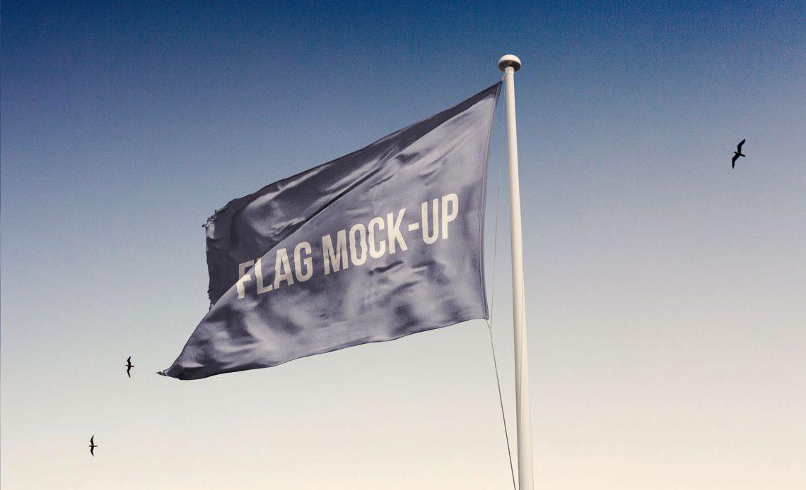 Free Realistic Flag Mockup