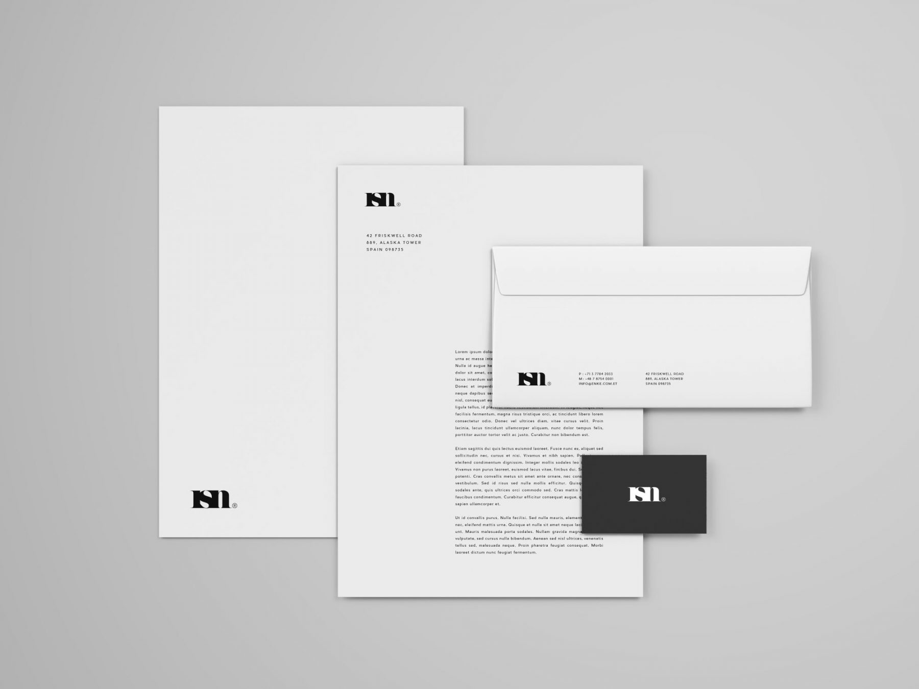Free Simple Stationery Mockup Template