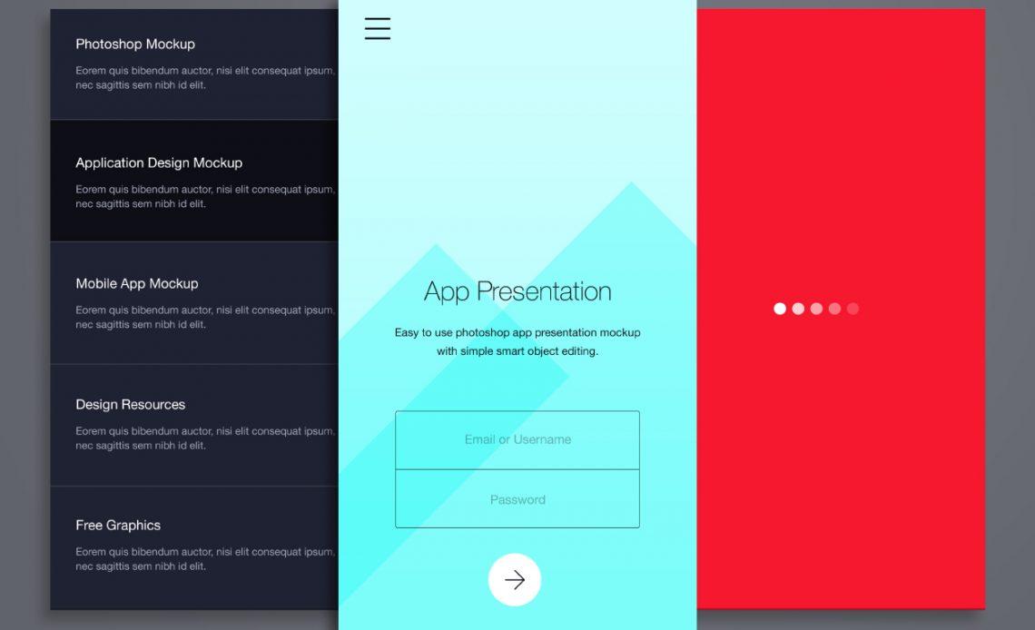 Free Phone Application Presentation Mockup