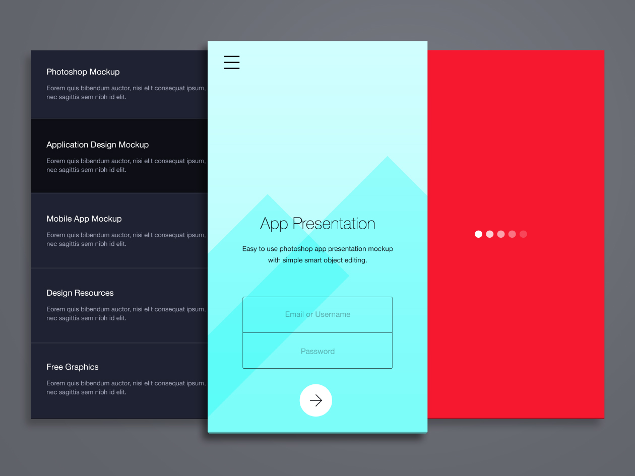 Free Phone Application Presentation Mockup