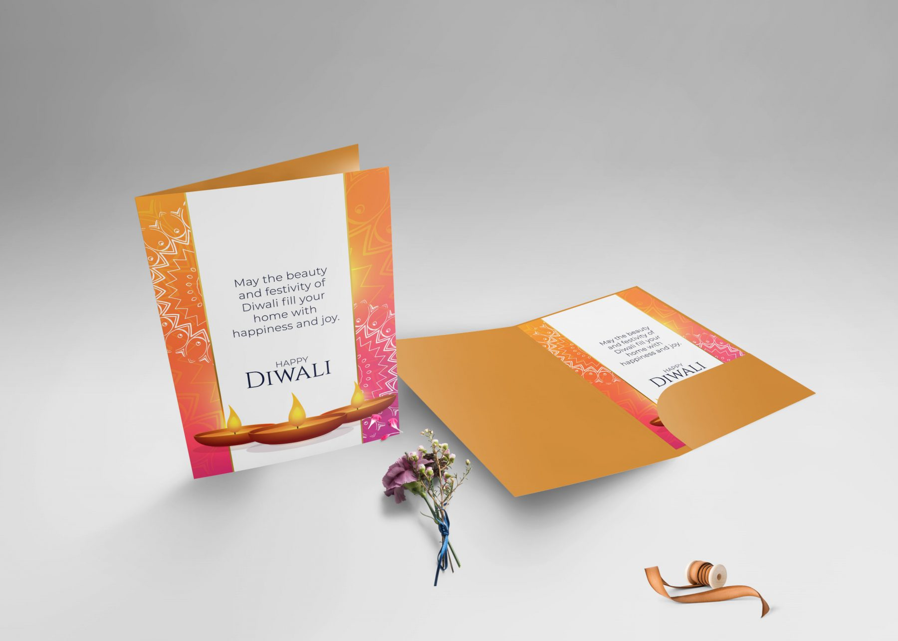 Free Standing Greeting Card Mockup