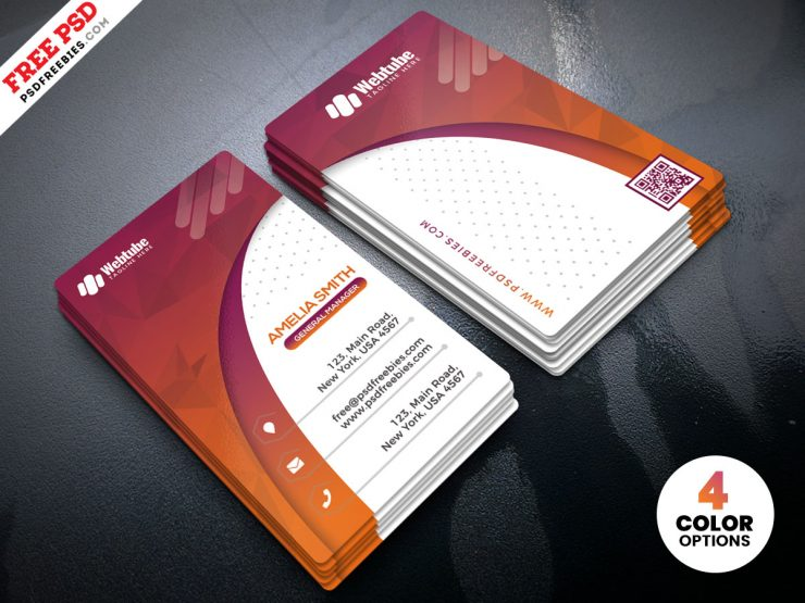 Free Designer Vertical Business Card