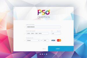 Free Credit Card Form UI Graphics