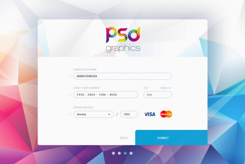 Free Credit Card Form UI Graphics