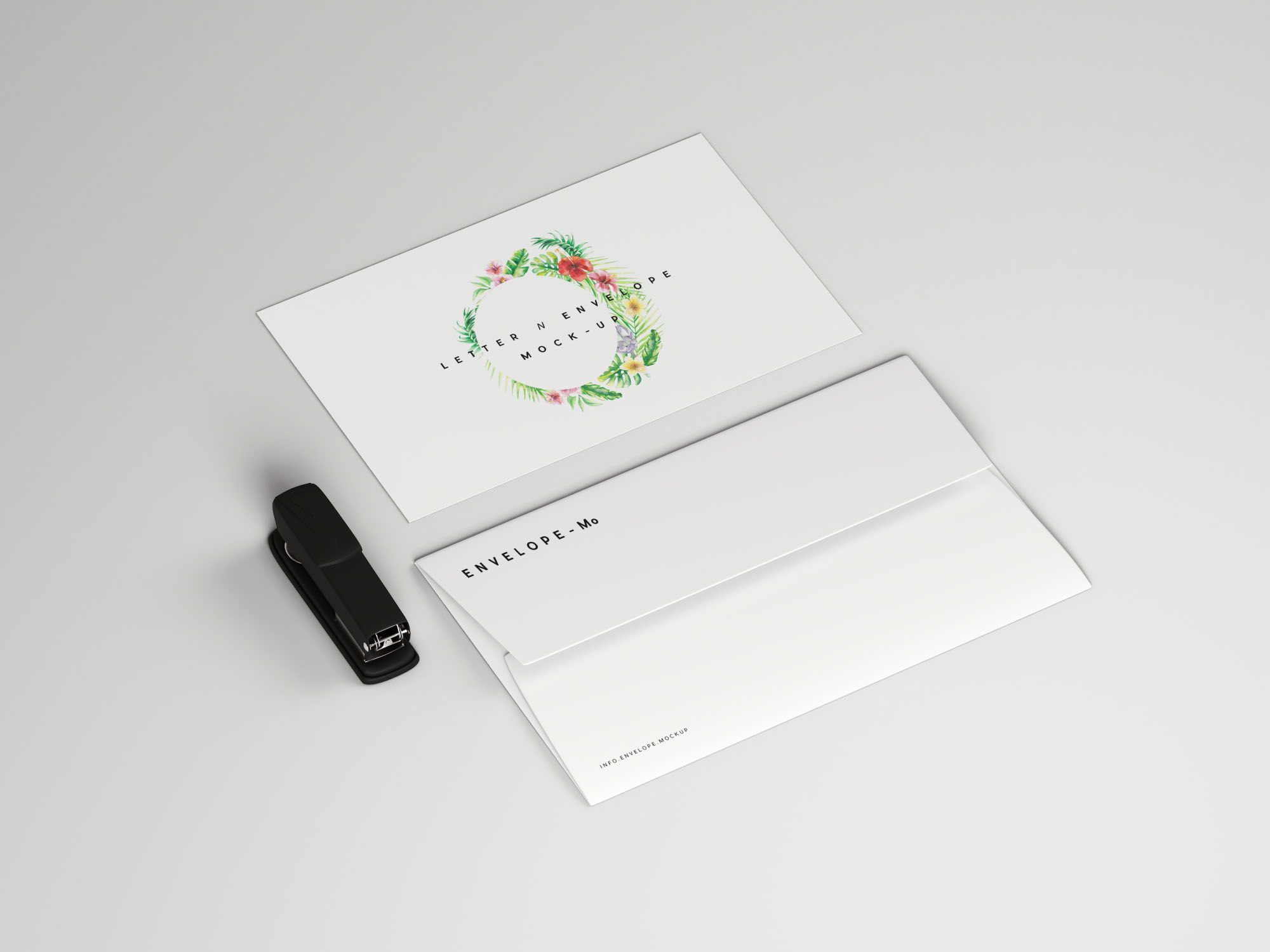 Free Envelope and Letter Mockup