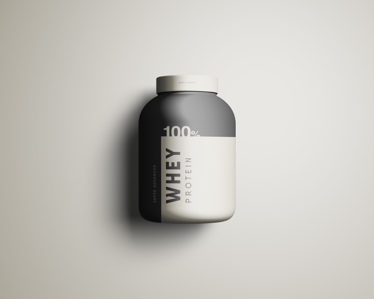 Free Whey Protein Jar Mockup