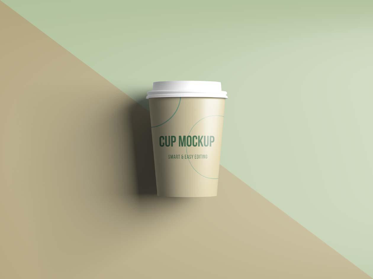 Free Realistic Coffee/Tea Cup Mockup
