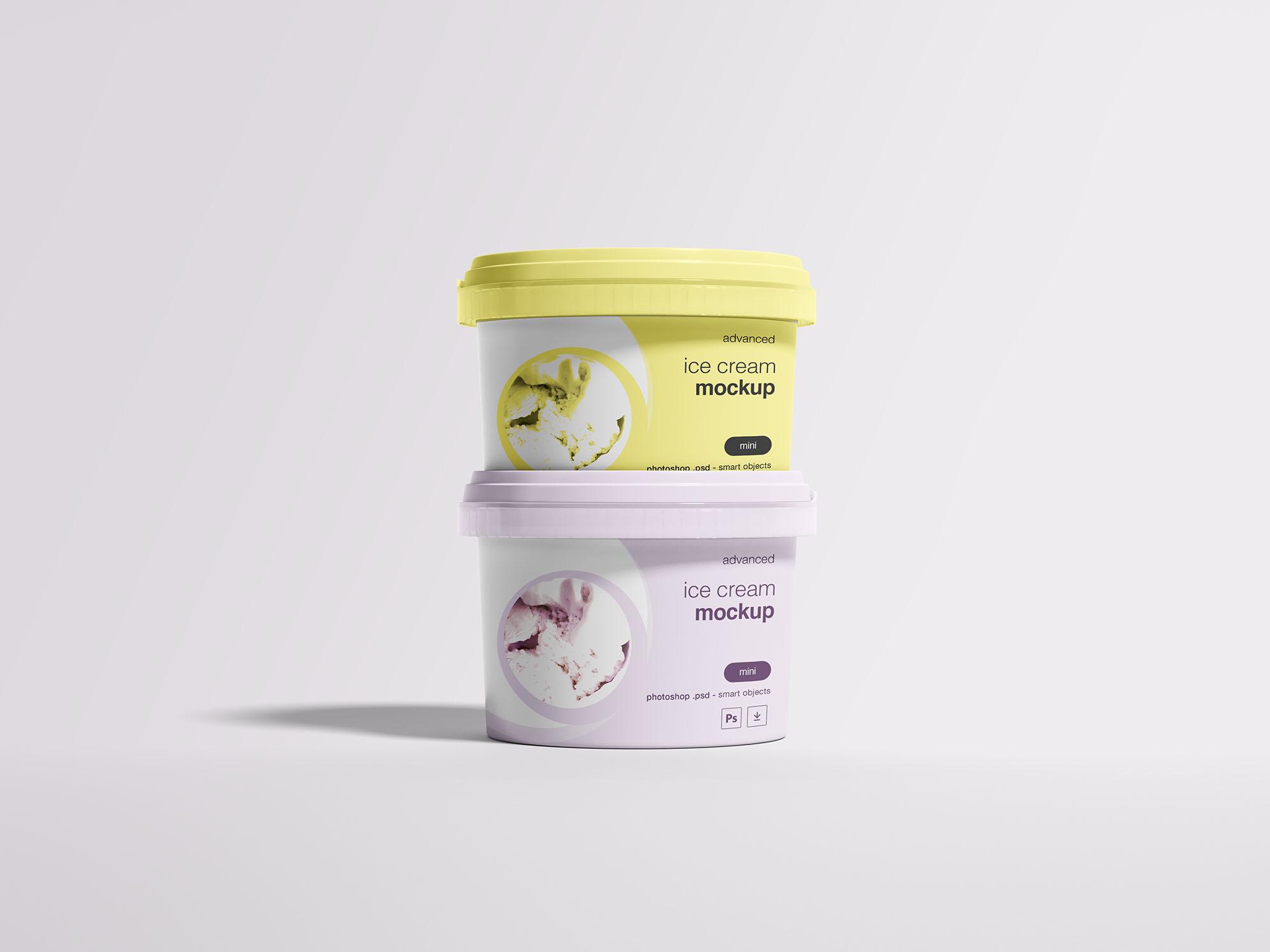 Free Ice Cream Package Mockup
