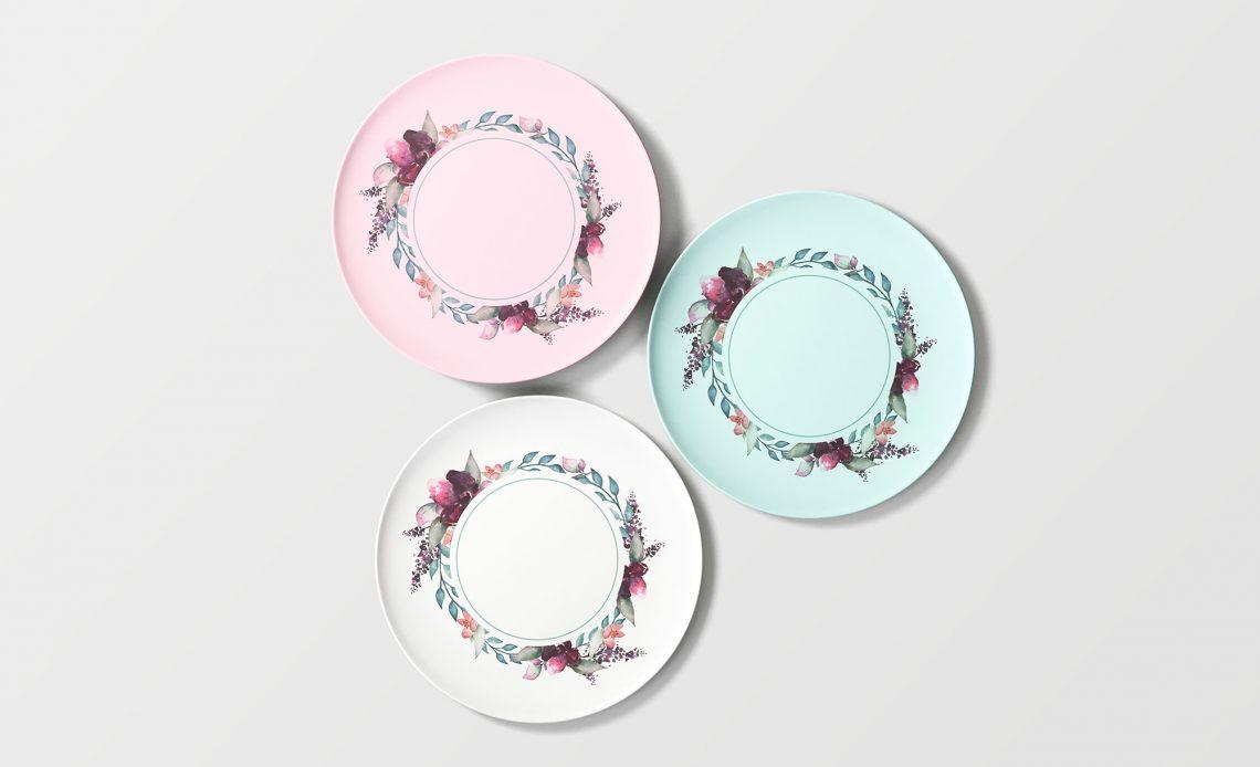 Free Overhead Plates Mockup