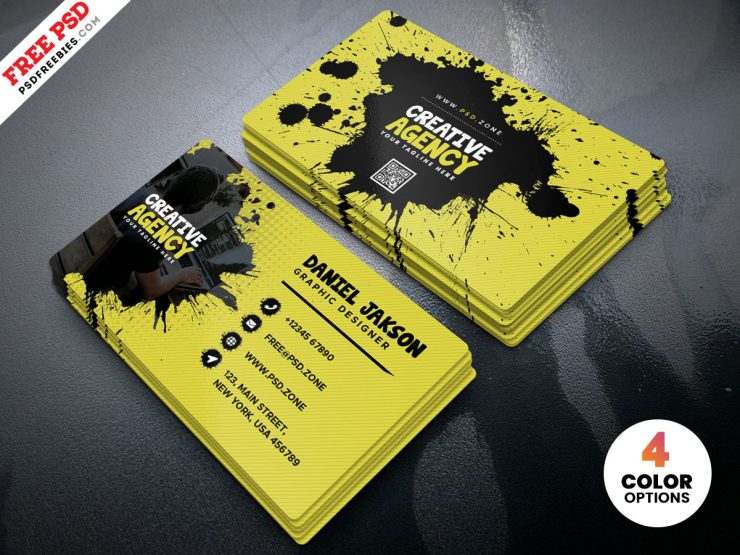 Free Agency Business Card Design Template