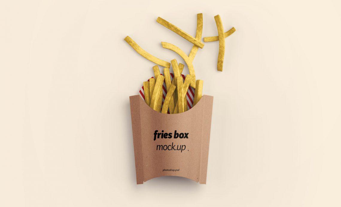 Free Fries Box Mockup
