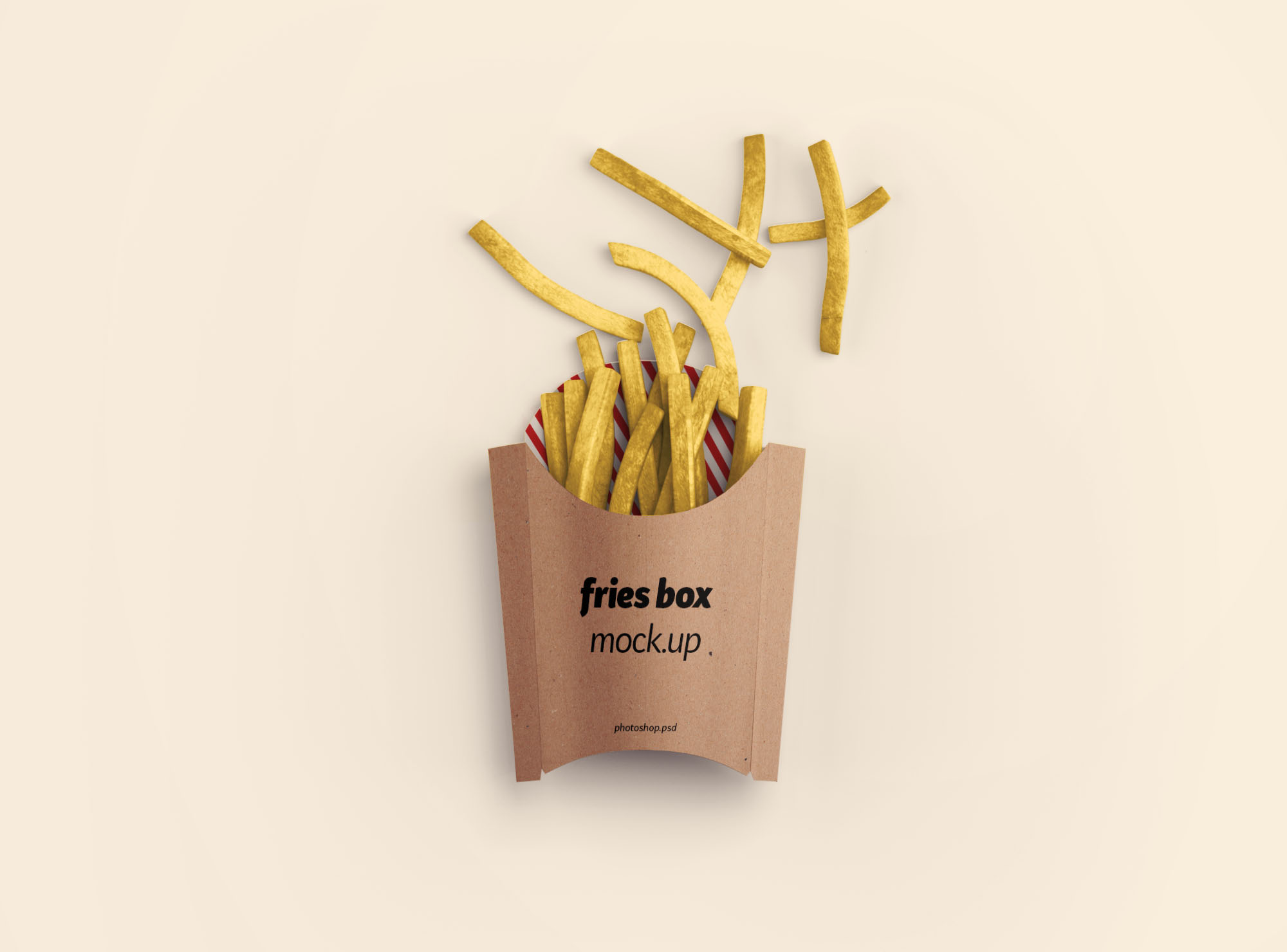 Free Fries Box Mockup