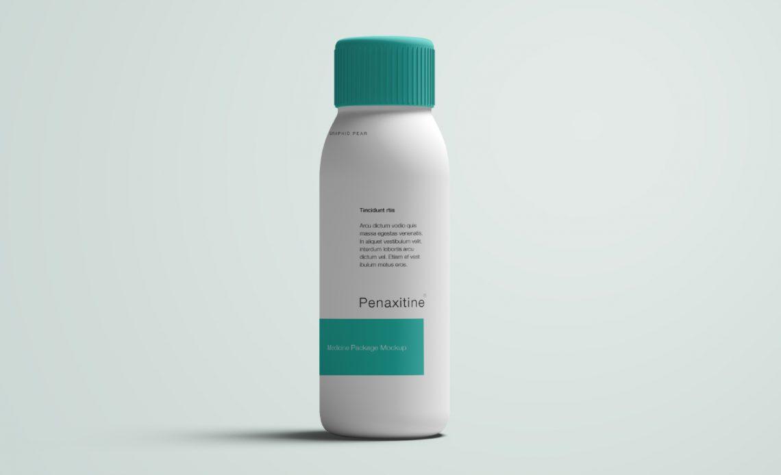 Free Medicine Bottle Mockup
