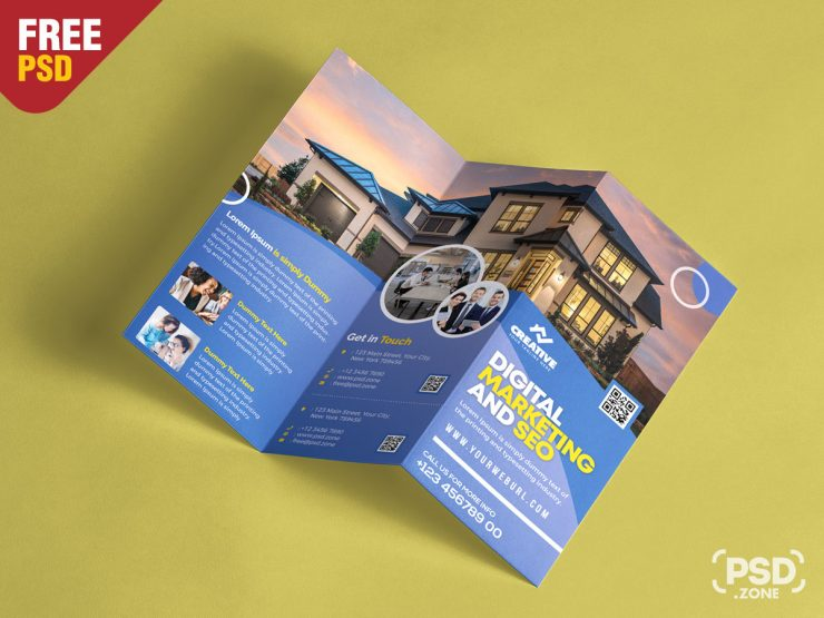Free Corporate Brochure Design PSD Template