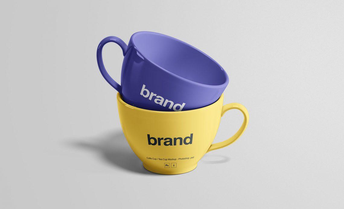Free Tea Cups Mockup