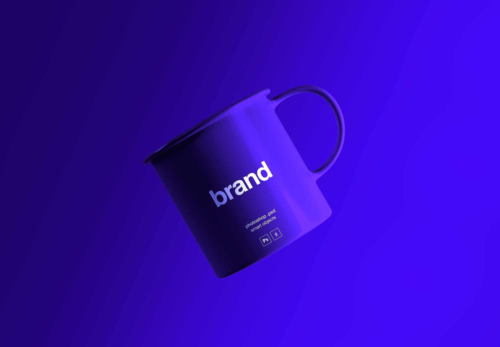 Free Floating Tea Cup Mockup