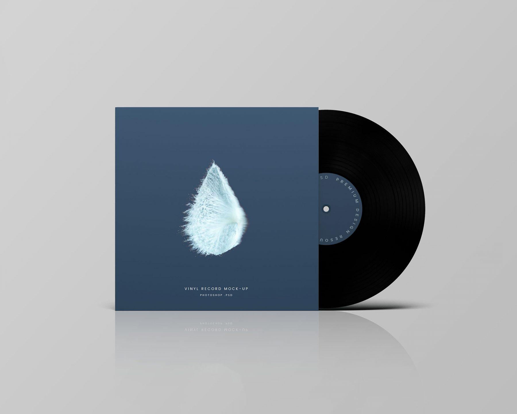 Free Vinyl Record Mockup