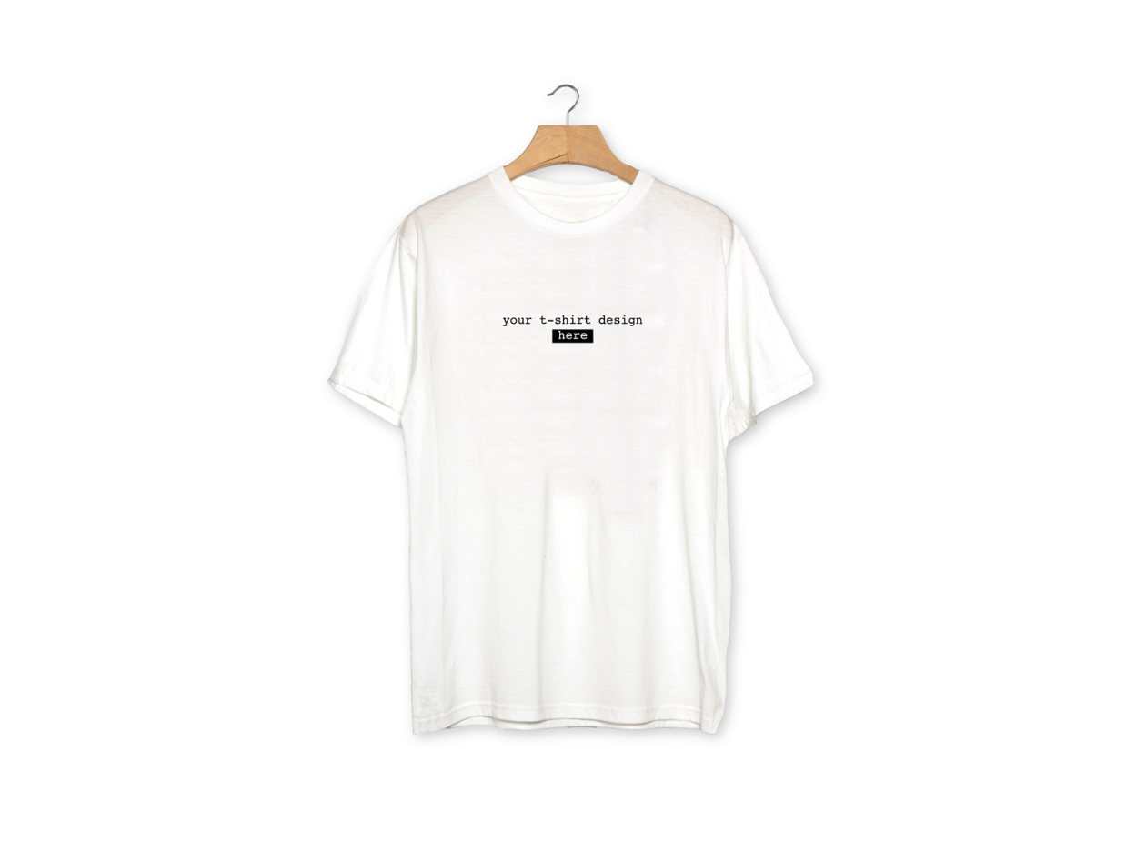 Free White Realistic T-Shirt Mockup