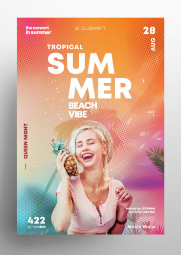 Tropical Events 3 PSD Flyers / Card