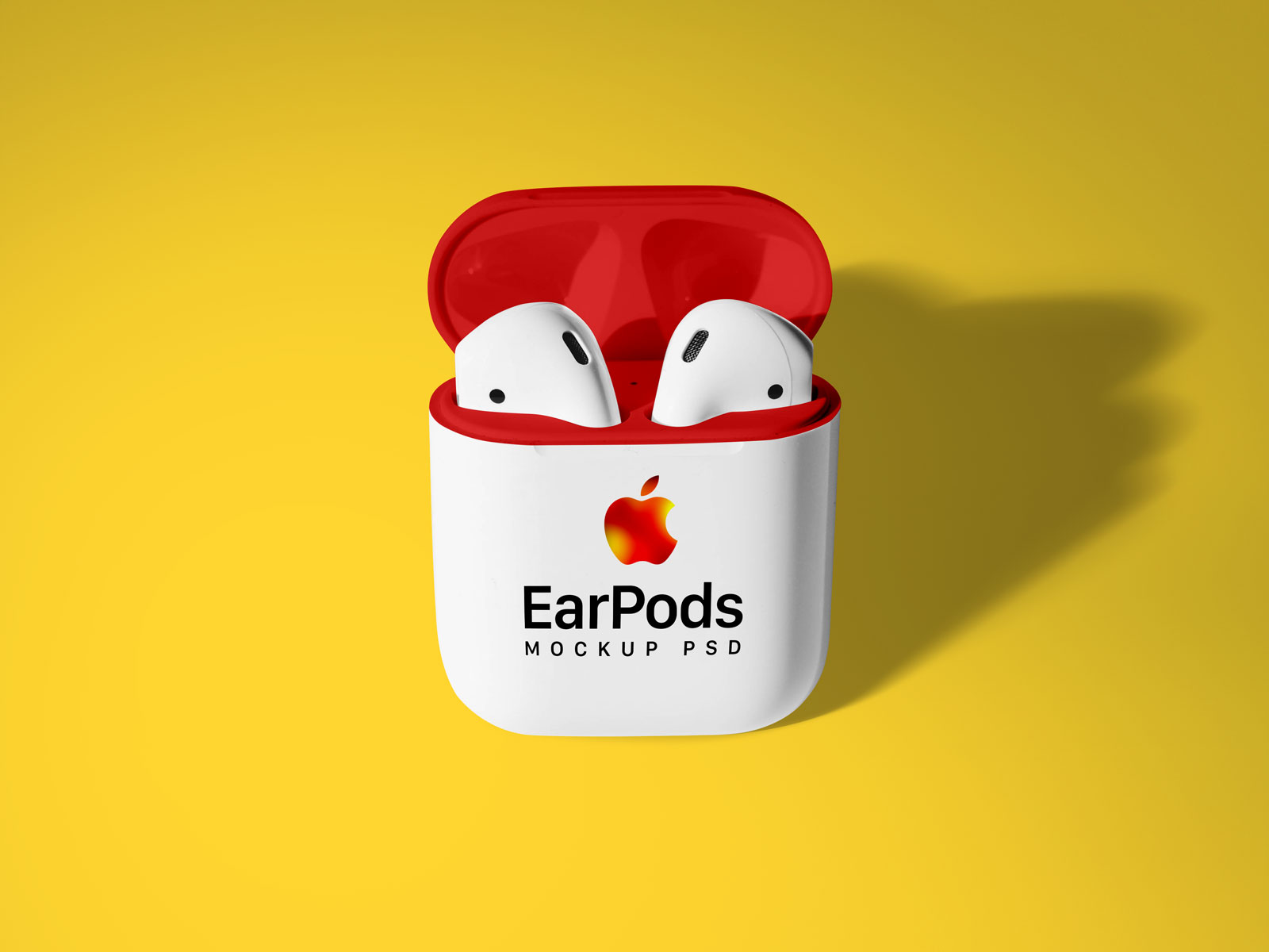 Free Apple AirPods 2 Mockup