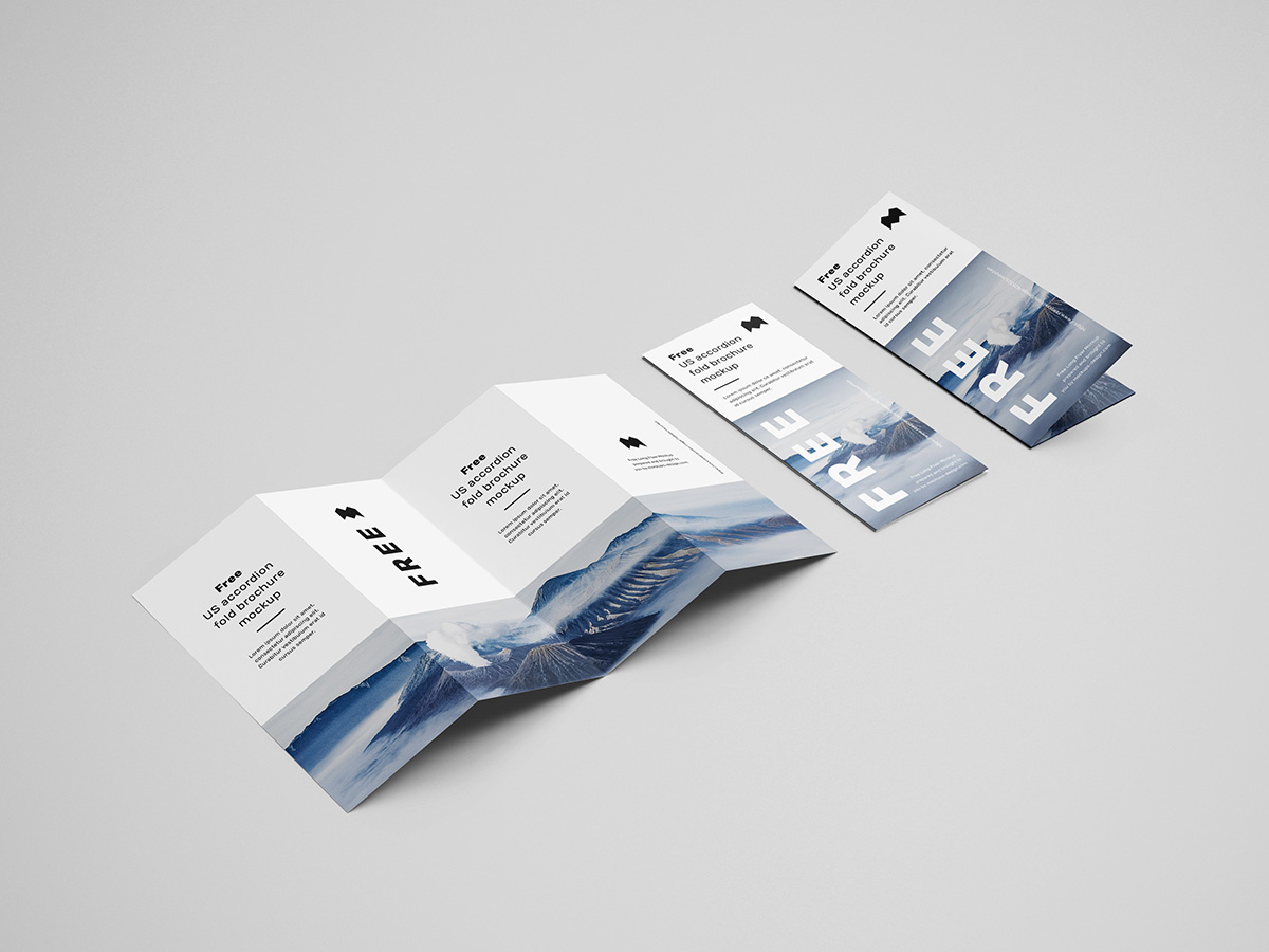 Free Accordion Brochure Mockup