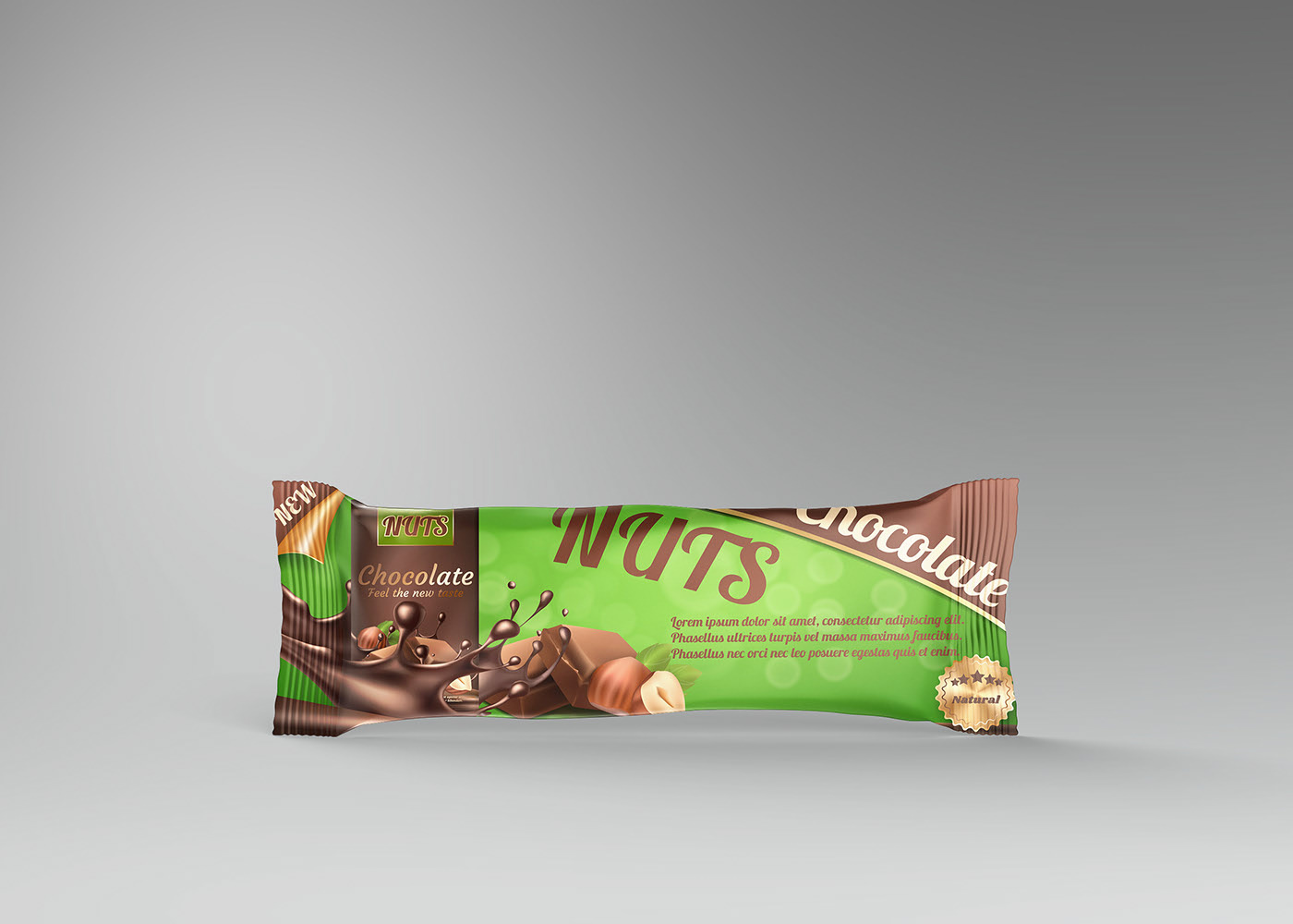 Free Protein Bar Chocolate Mockup