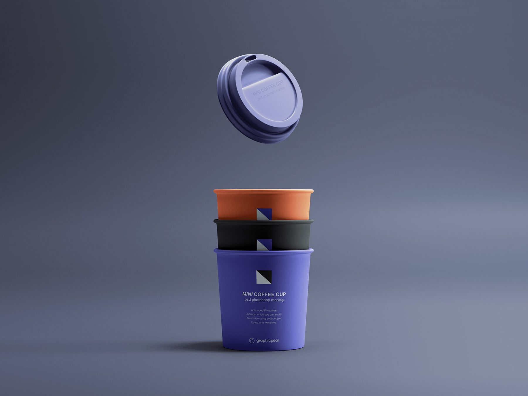 Free Mini Coffee Cups Mockup