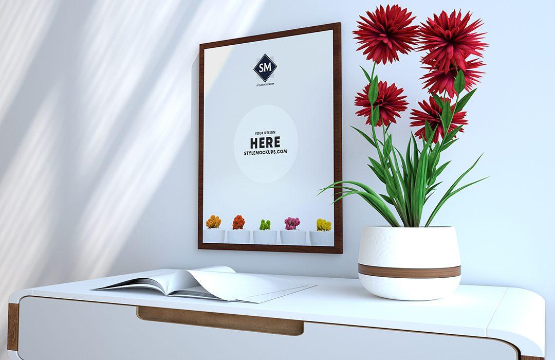 Free Poster Frame Scene Kit Mockup