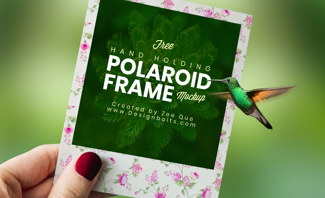 Free Polaroid Photo Frame Mockup