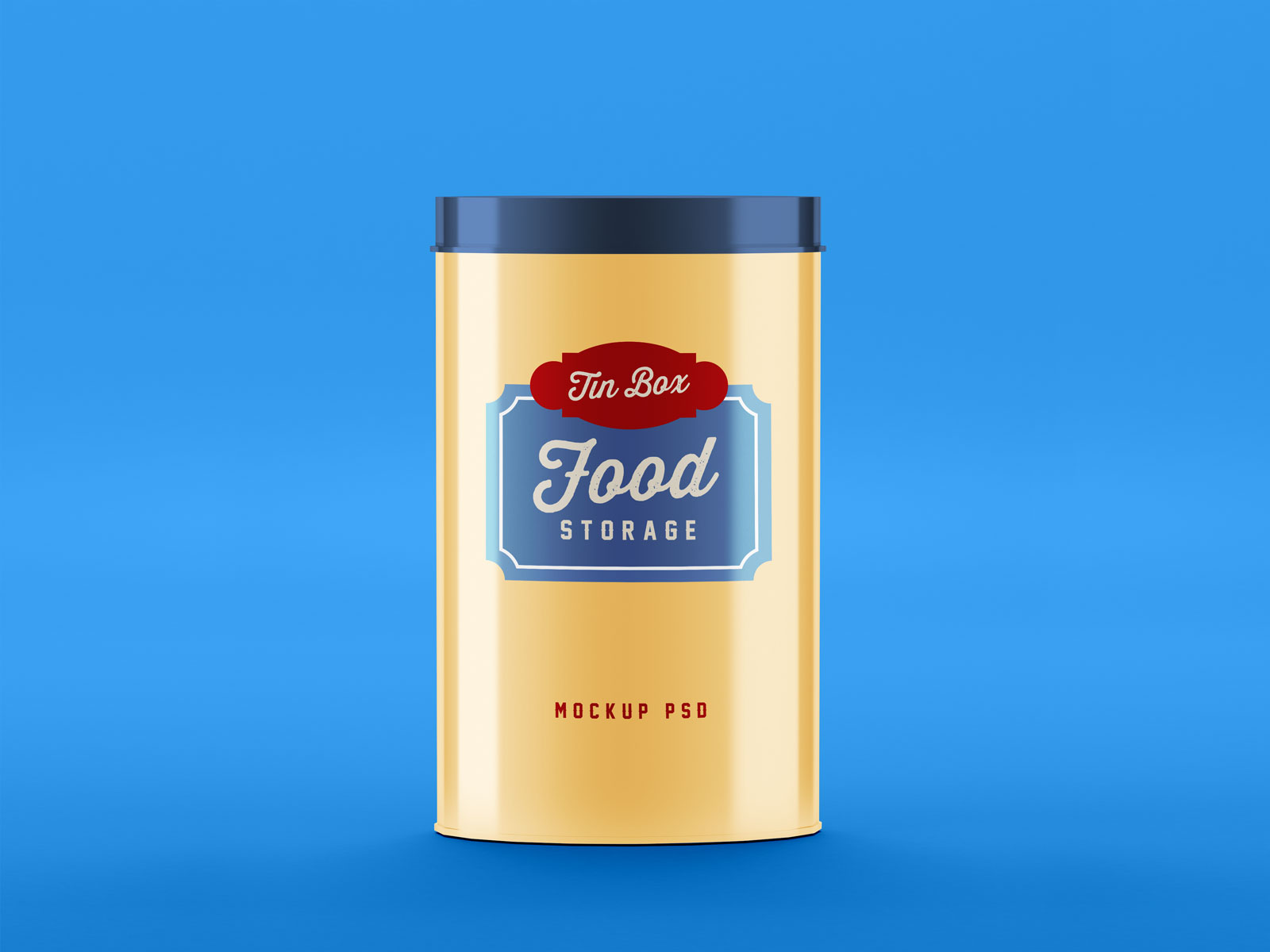 Free Food Storage Tin Can Mockup