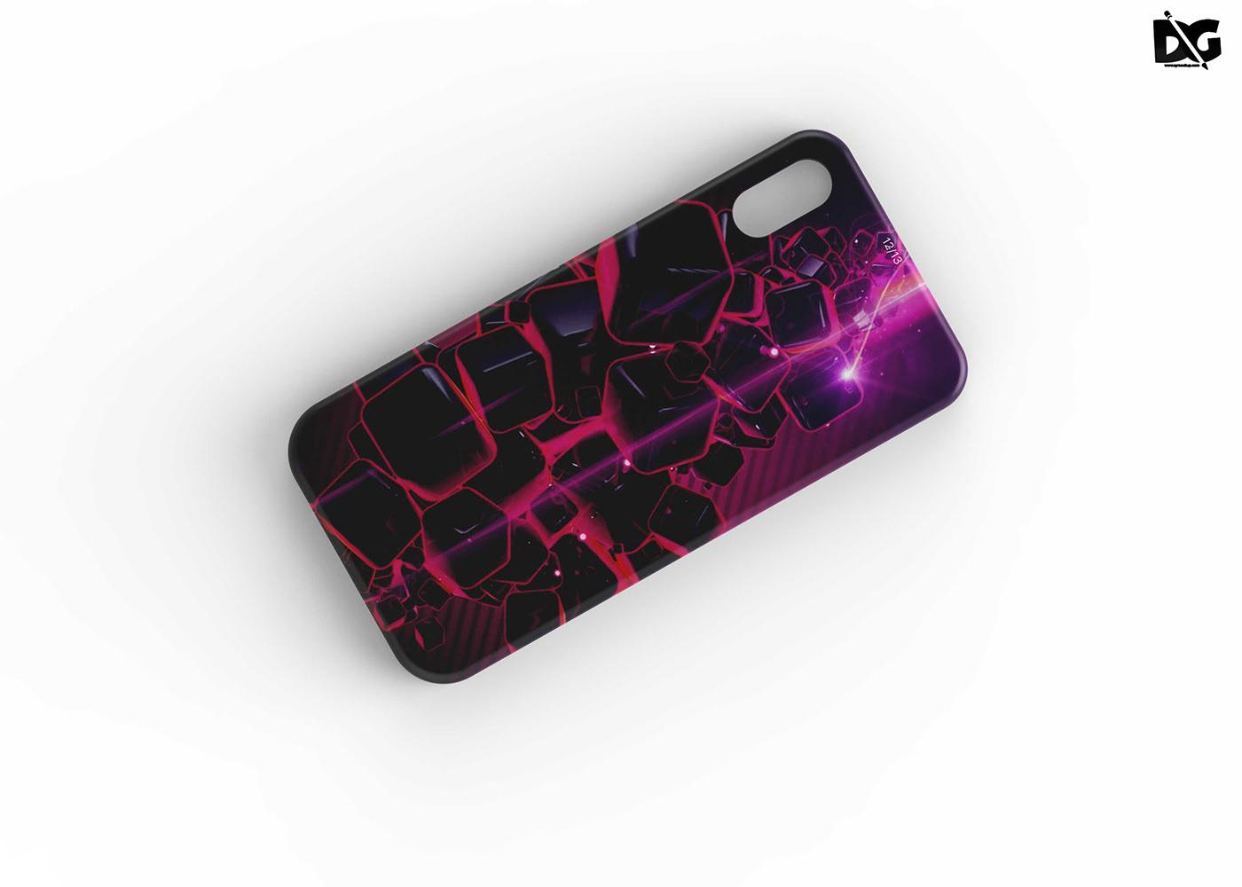 Free Phone Back Case Design Mockup