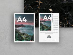 Free Brand A4 Flyer Mockup