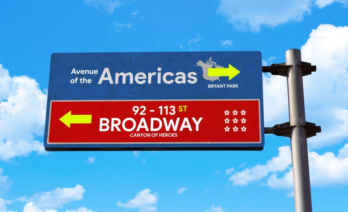 Free Roadside Signpost Mockup