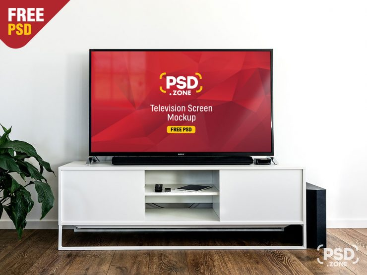 Free Television Screen Mockup