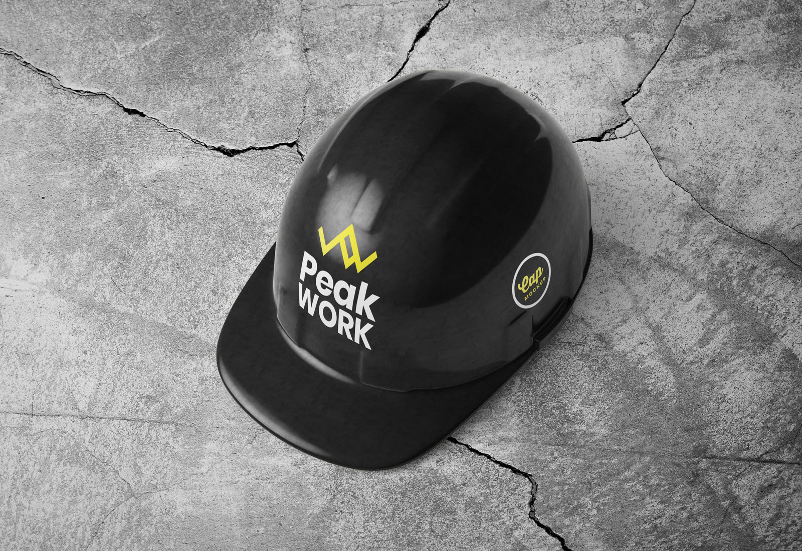 Free Construction Safety Helmet Mockup