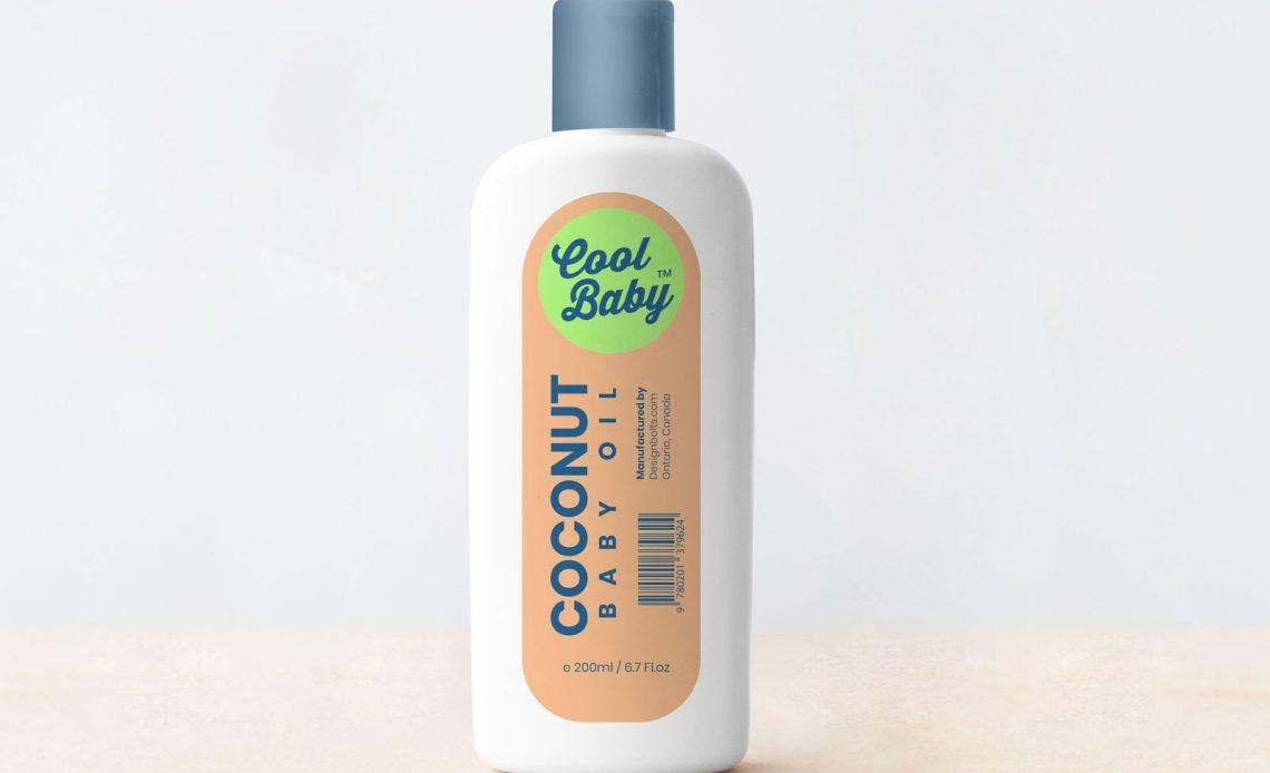 Free Baby Cream Plastic Bottle Mockup