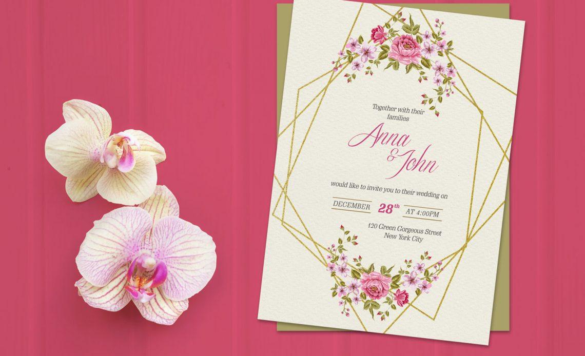 Free Wedding Invitation Card Mockup