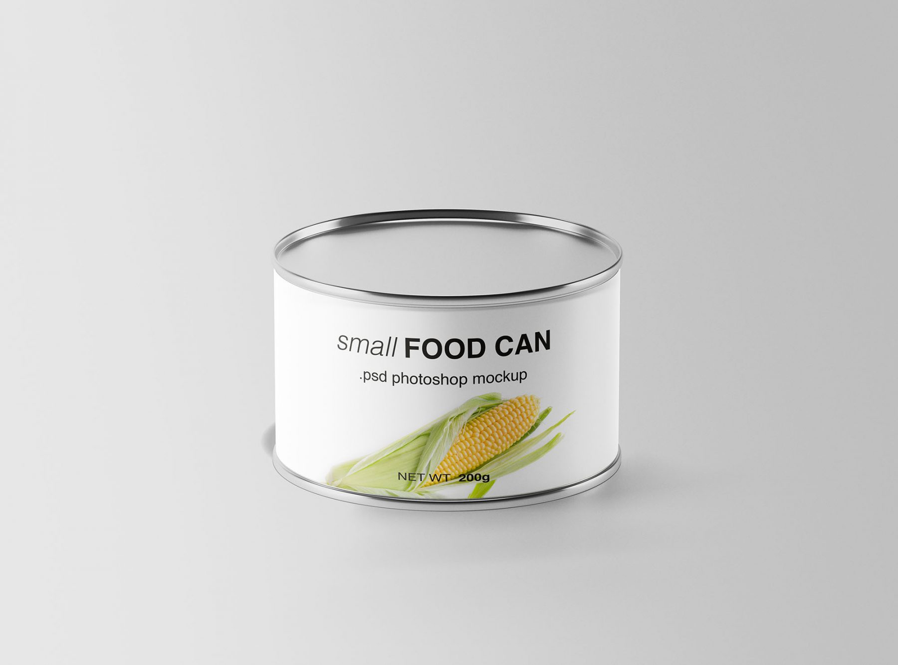 Free Small Food Can Mockup