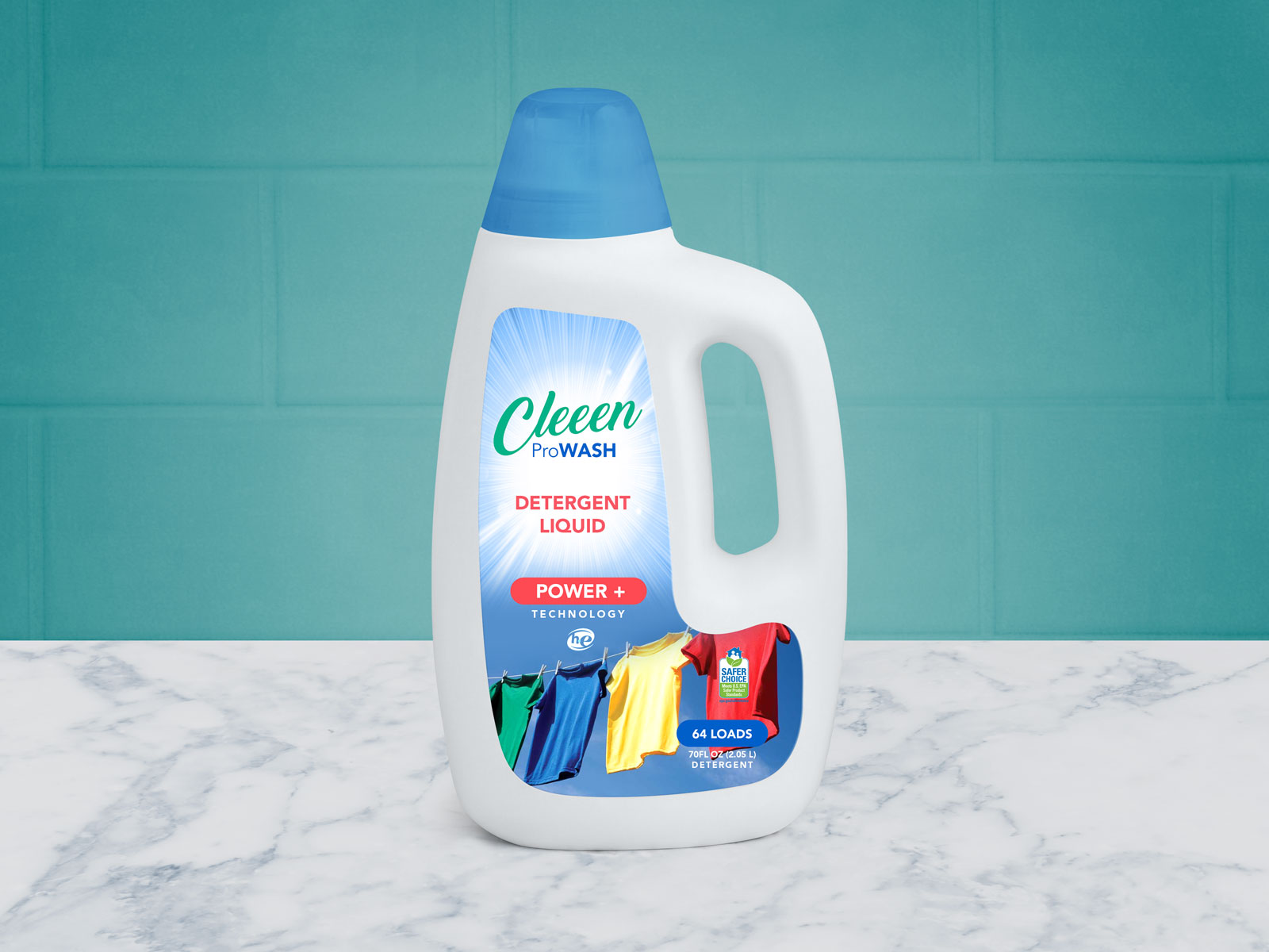 Free Liquid Detergent Bottle Mockup