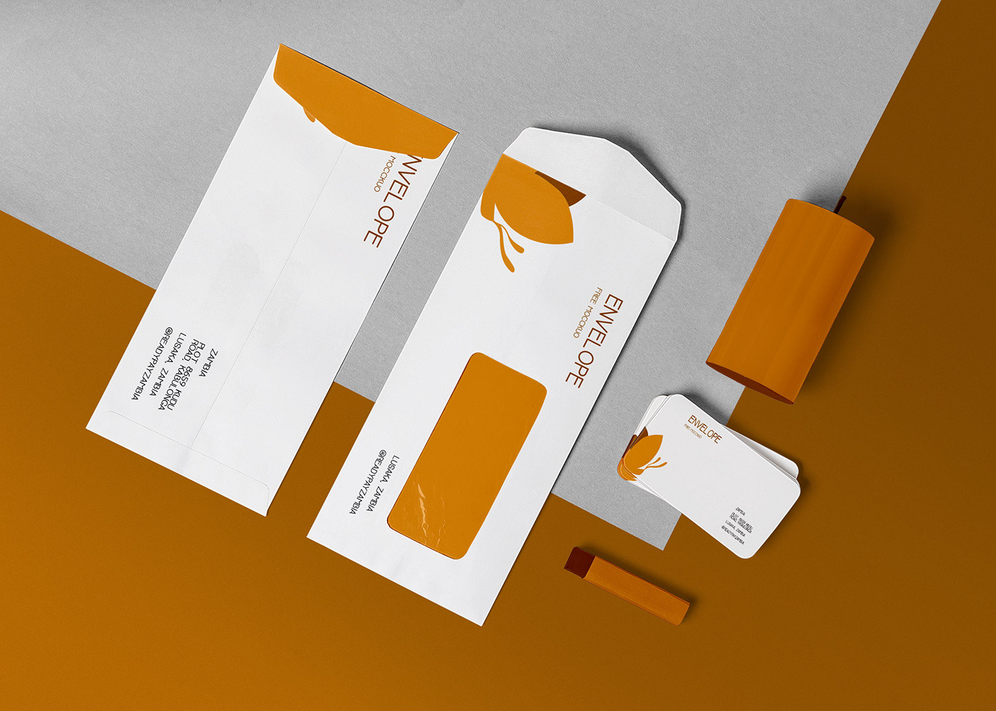 Free Beautiful Envelope Mockup