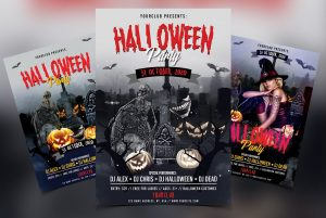 Halloween Partyis a Premium and Modern psd flyer template to use for your next Halloween event or party.
