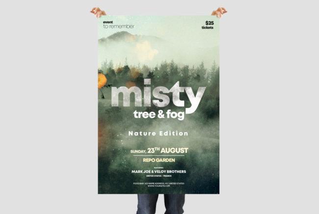 Misty Fog - 3 Event PSD Flyers