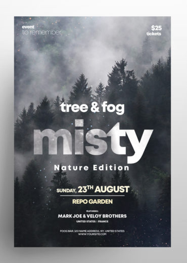 Misty Fog - 3 Event PSD Flyers
