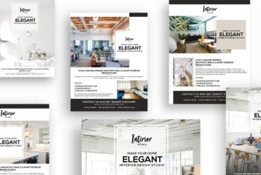 Interior Design, Architecture Flyers