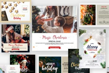 Set of Christmas Cards Kit & Flyers