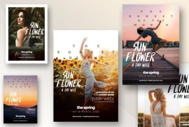 Set of Nature Events Flyer Templates
