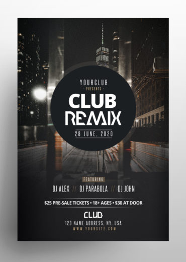 Club Remix PSD Flyers Templates