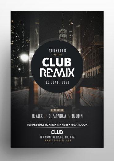 Club Remix PSD Flyers Templates